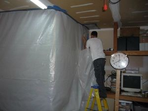 Water Damage Restoration Sealing In Mold With aA Vapor Barrier