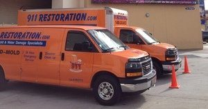 Mold and Water Damage Restoration Vans